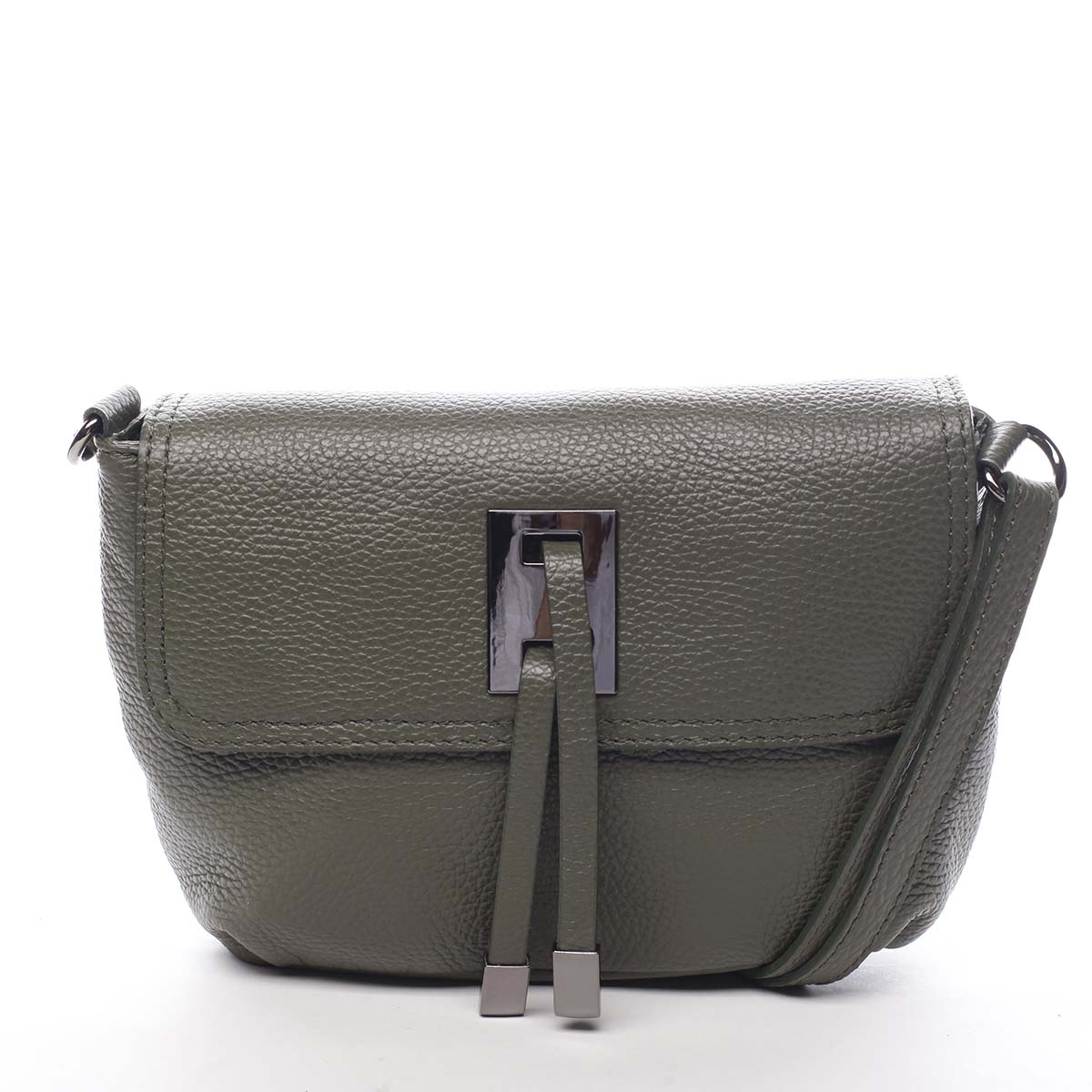 Dámská kožená crossbody kabelka olivová - ItalY Porta