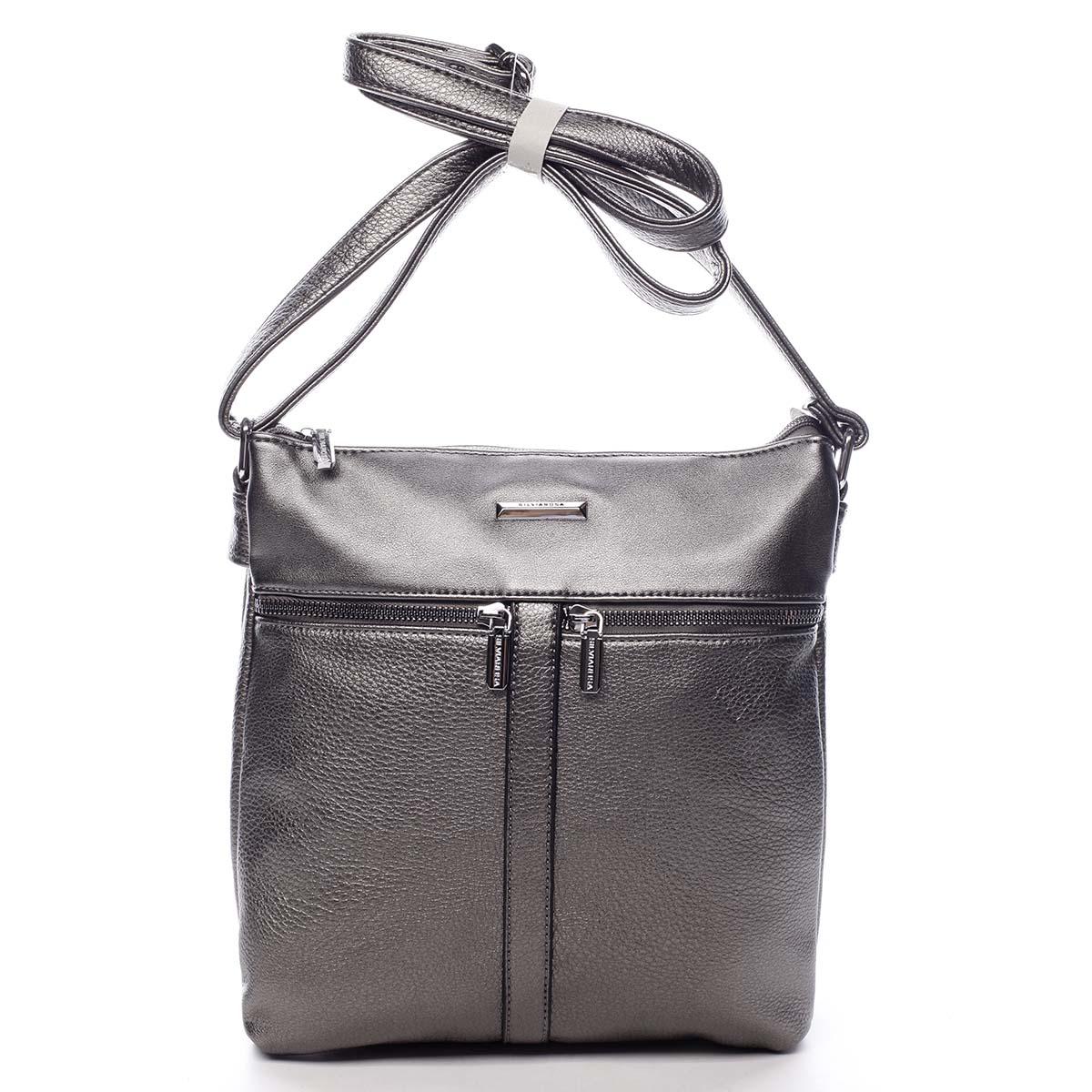 Dámská crossbody kabelka stříbrná - Silvia Rosa Jersey