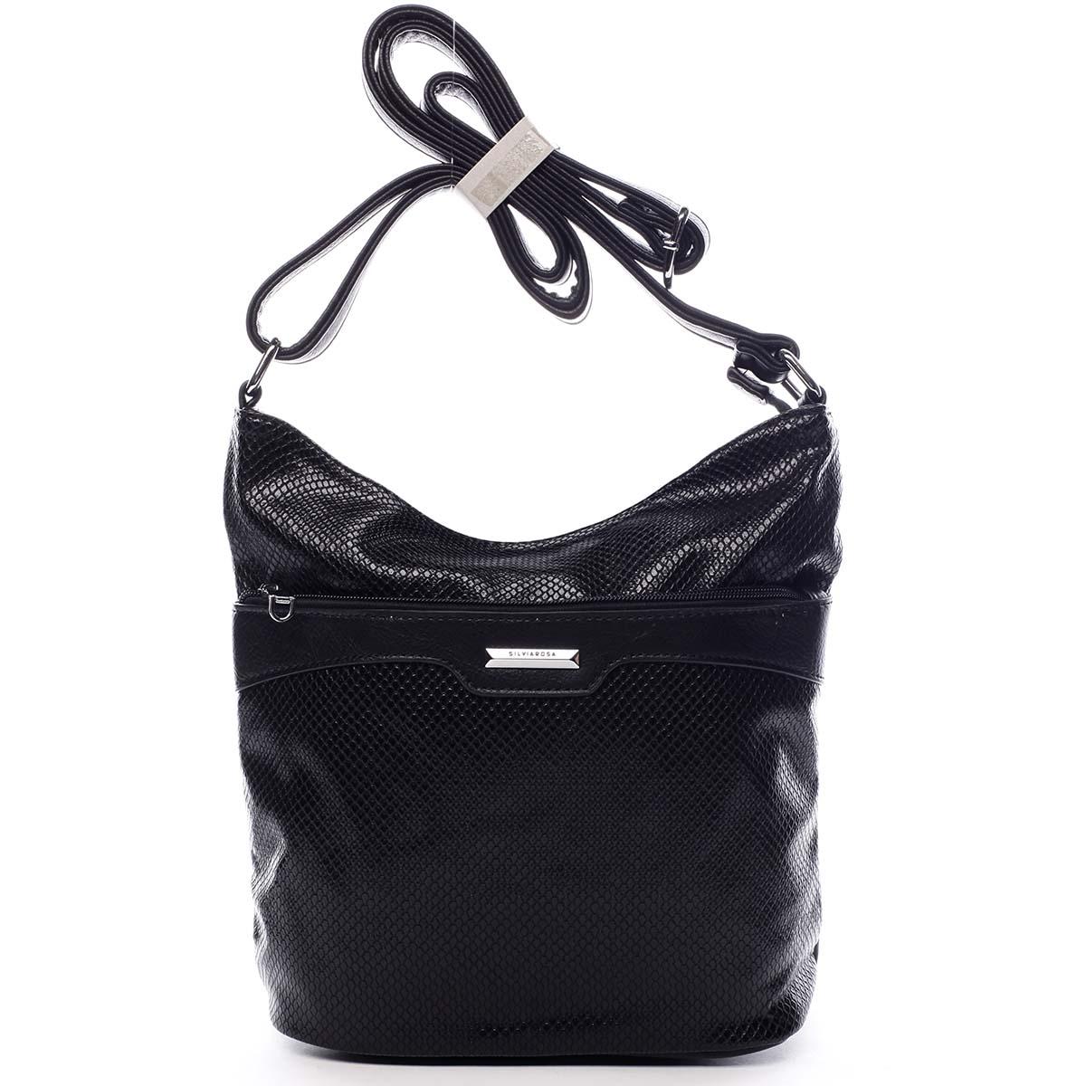 Dámská atraktivní crossbody kabelka černá - Silvia Rosa Tanitha Snake