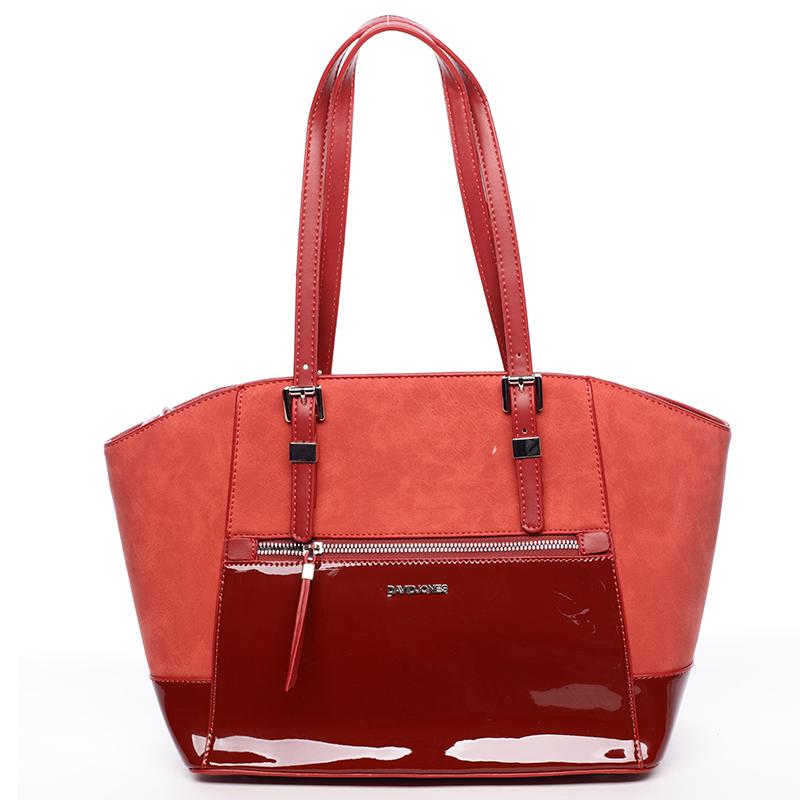 Luxusní dámská červená kabelka - David Jones Ruta