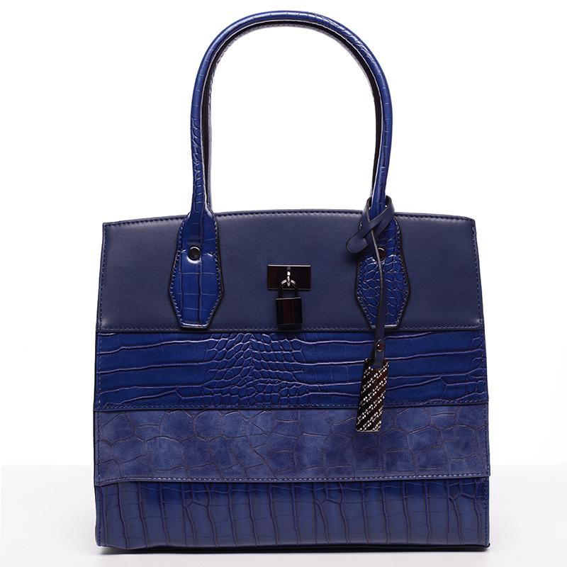 Dámská kabelka kroko modrá - David Jones Elvira