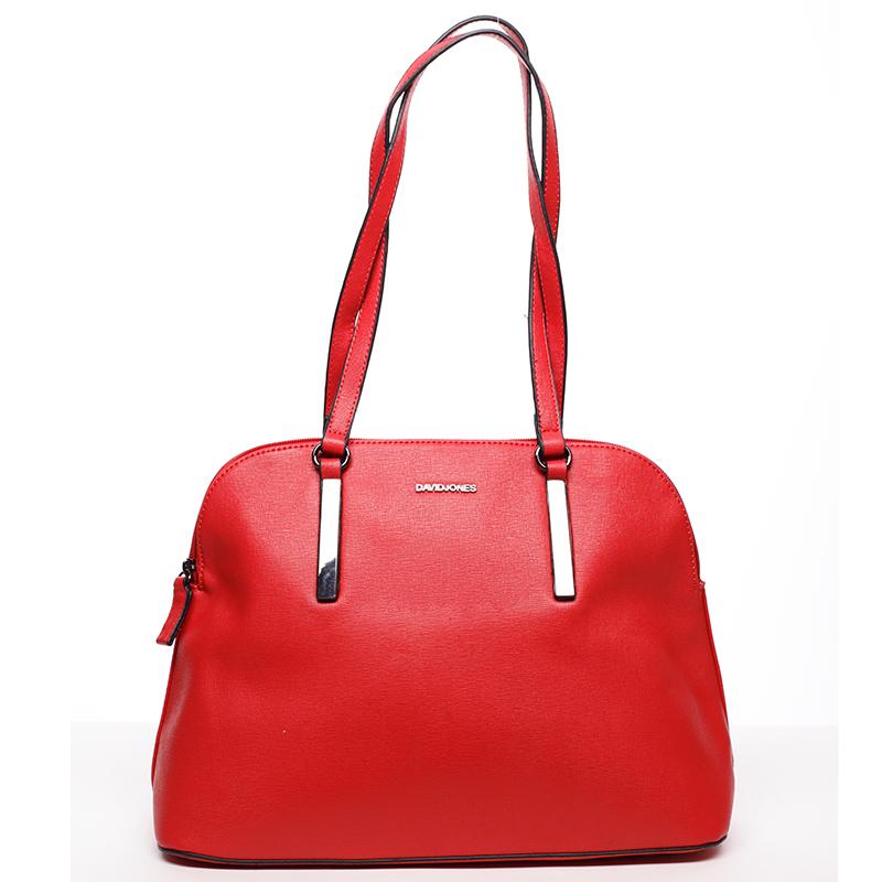 Dámská kabelka přes rameno červená - David Jones Elena