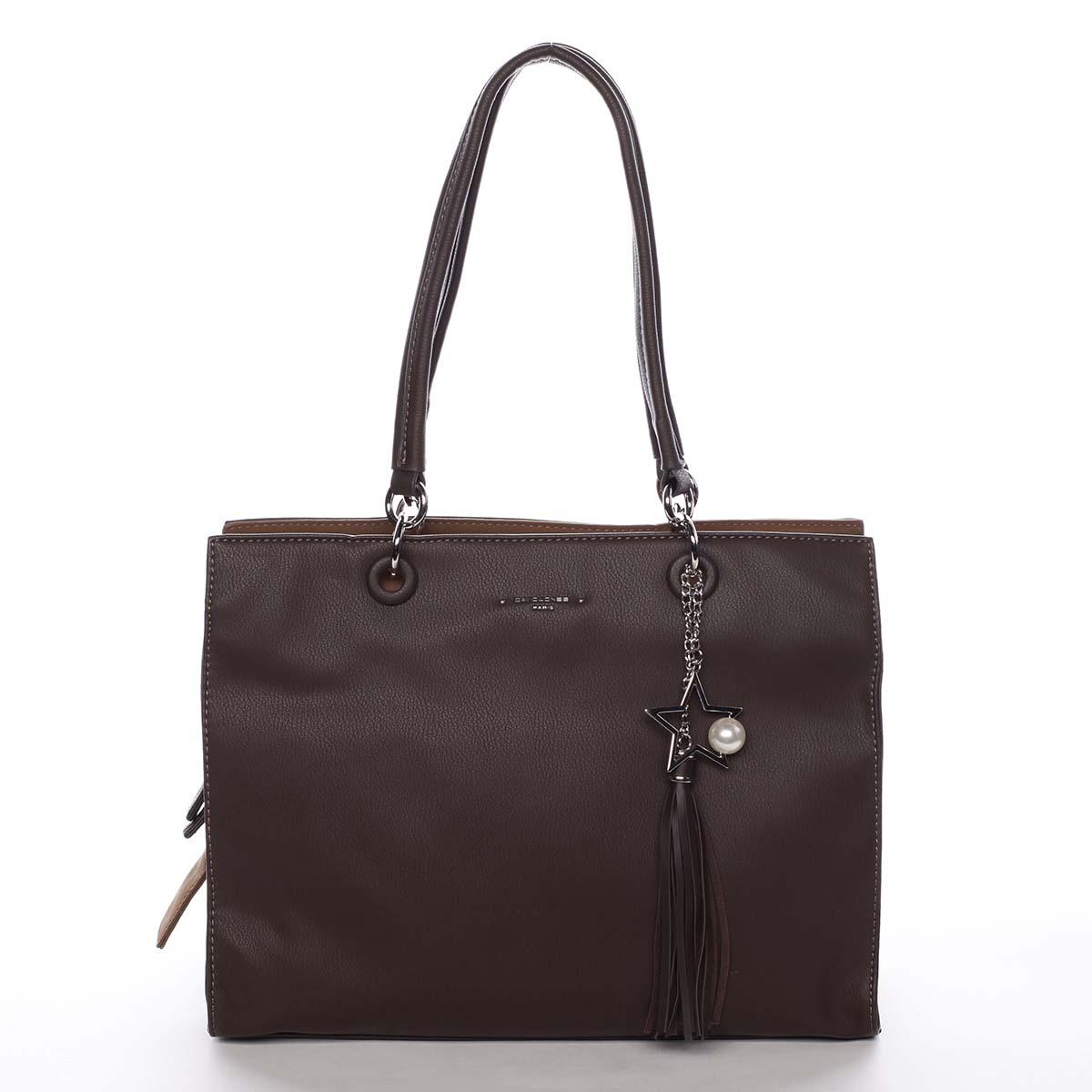 Dámská kabelka přes rameno tmavě hnědá - David Jones Annette