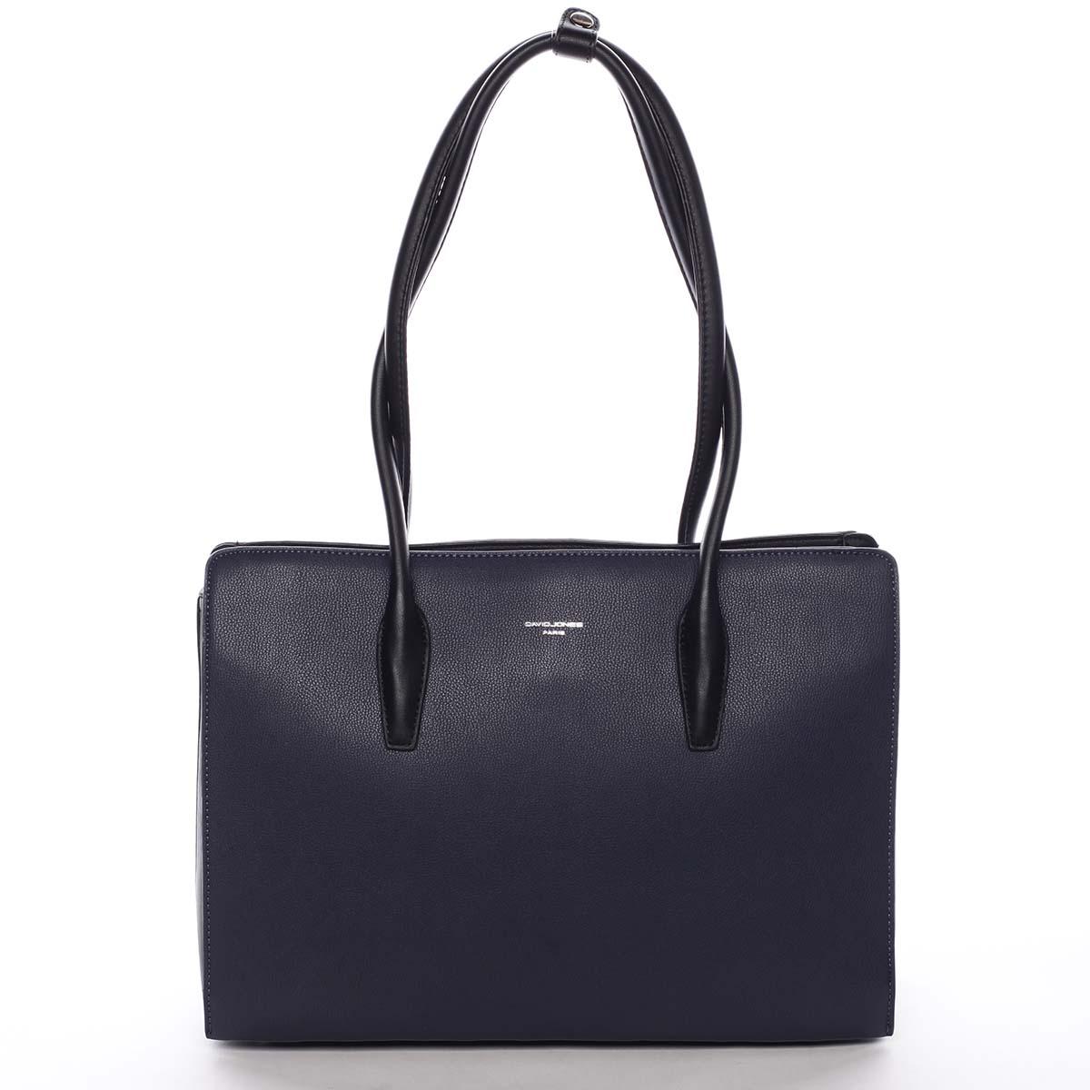 Velká dámská kabelka přes rameno tmavě modrá - David Jones Adalgisa