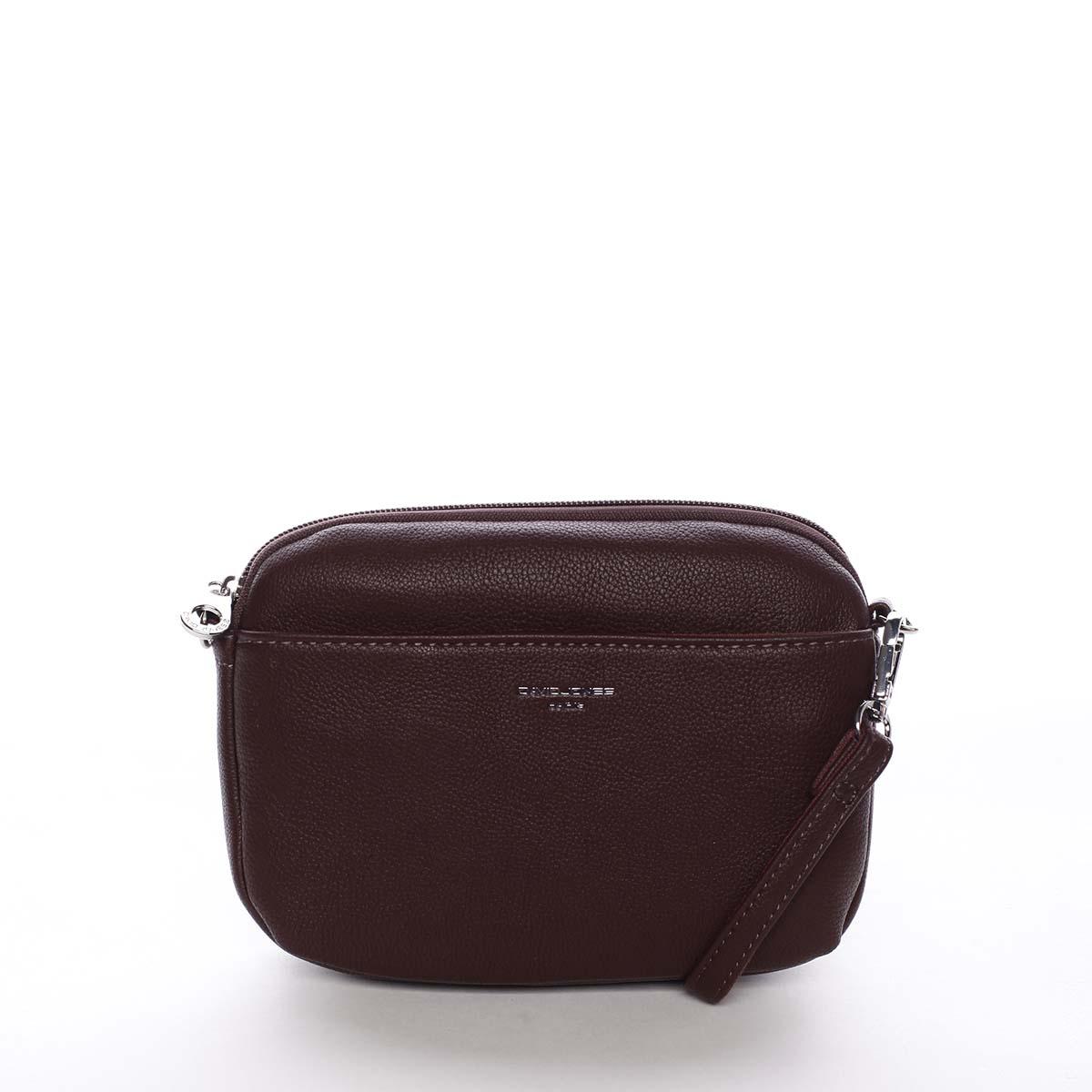 Malá dámská crossbody kabelka tmavě fialová - David Jones Berivan