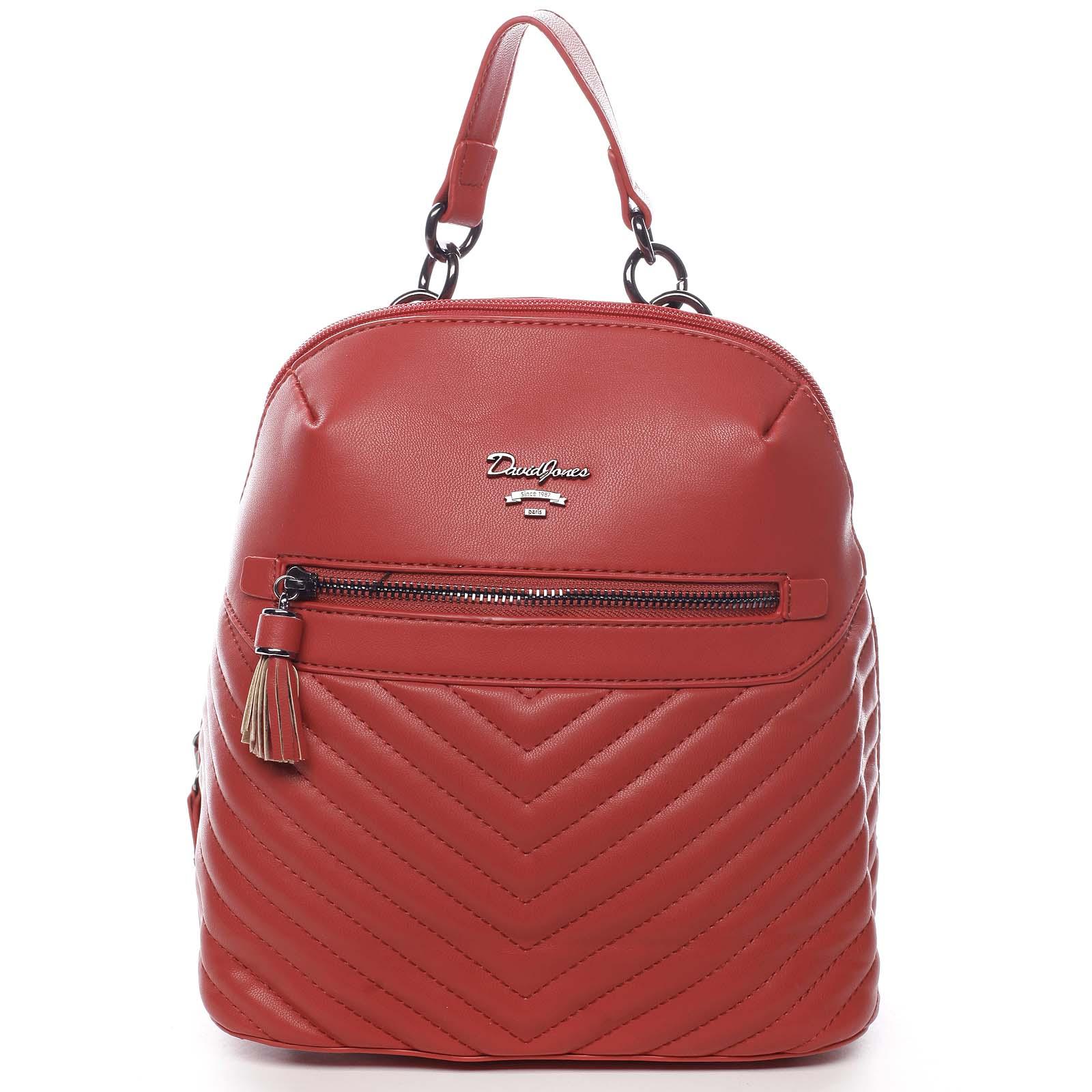 Dámský městský batoh červený - David Jones Ademar