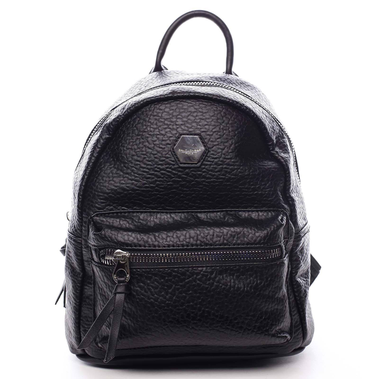 Dámský městský batoh černý - David Jones Mackenzie