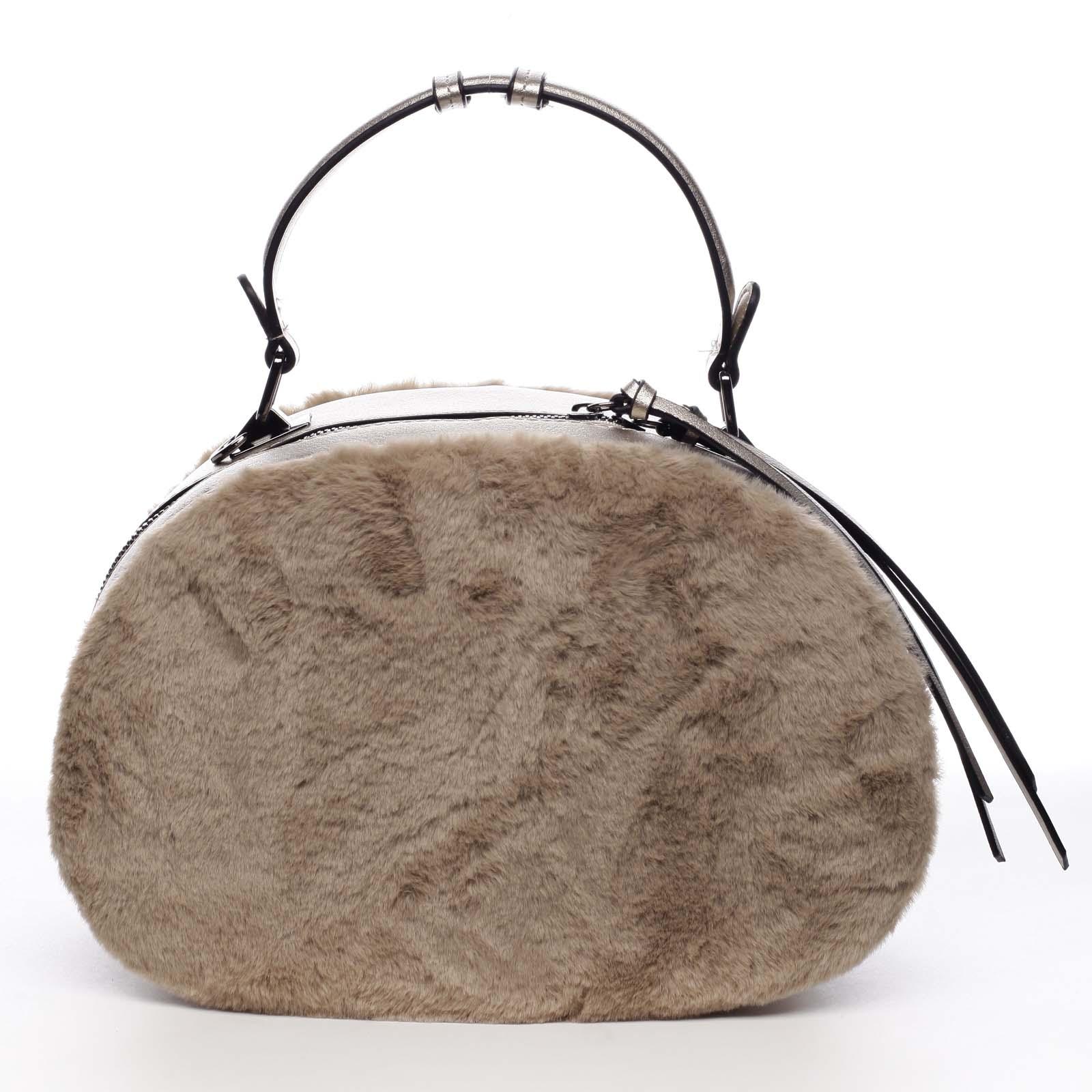Dámská kožešinová kabelka meruňková - MARIA C Hasiel