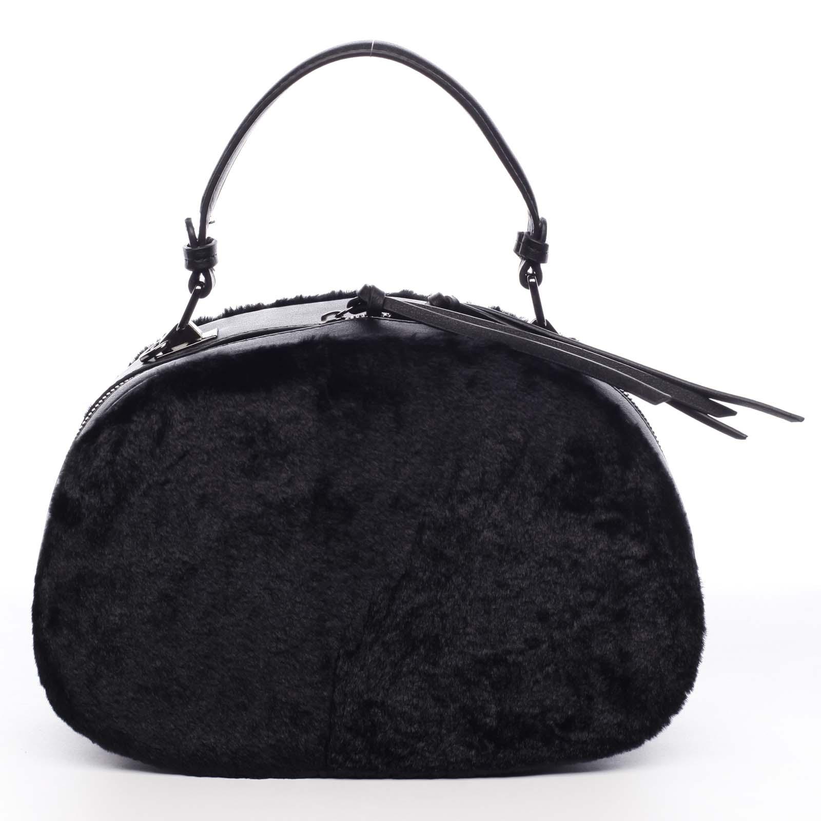 Dámská kožešinová kabelka černá - MARIA C Hasiel