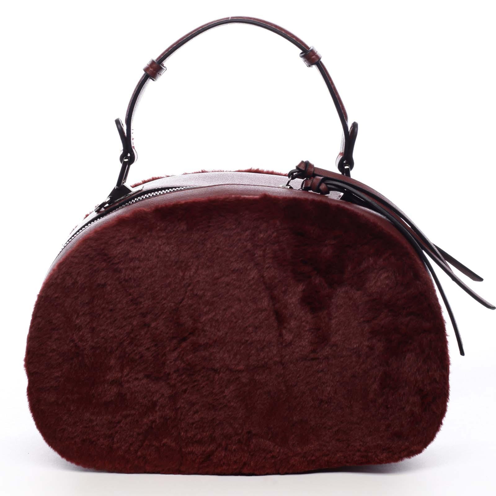 Dámská kožešinová kabelka vínová - MARIA C Hasiel