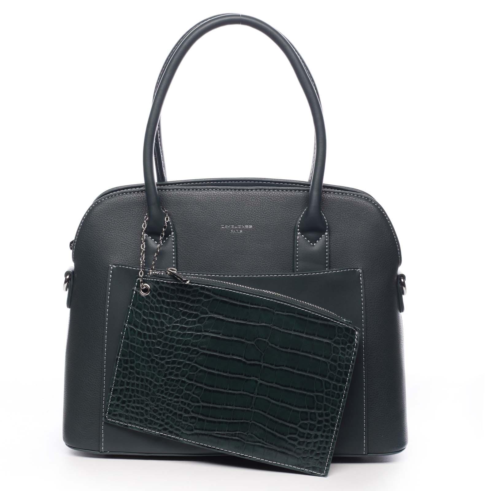 Dámská kabelka tmavě zelená - David Jones Caleed