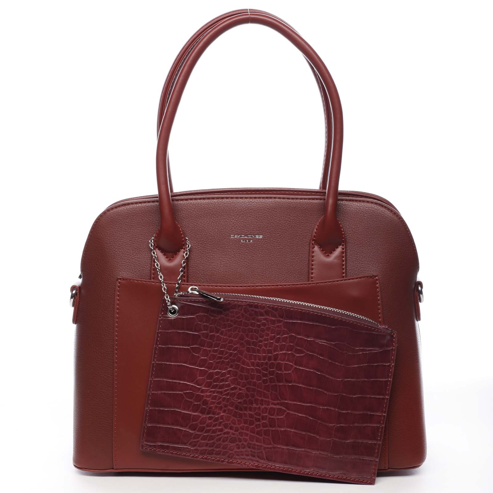 Dámská kabelka tmavě červená - David Jones Caleed