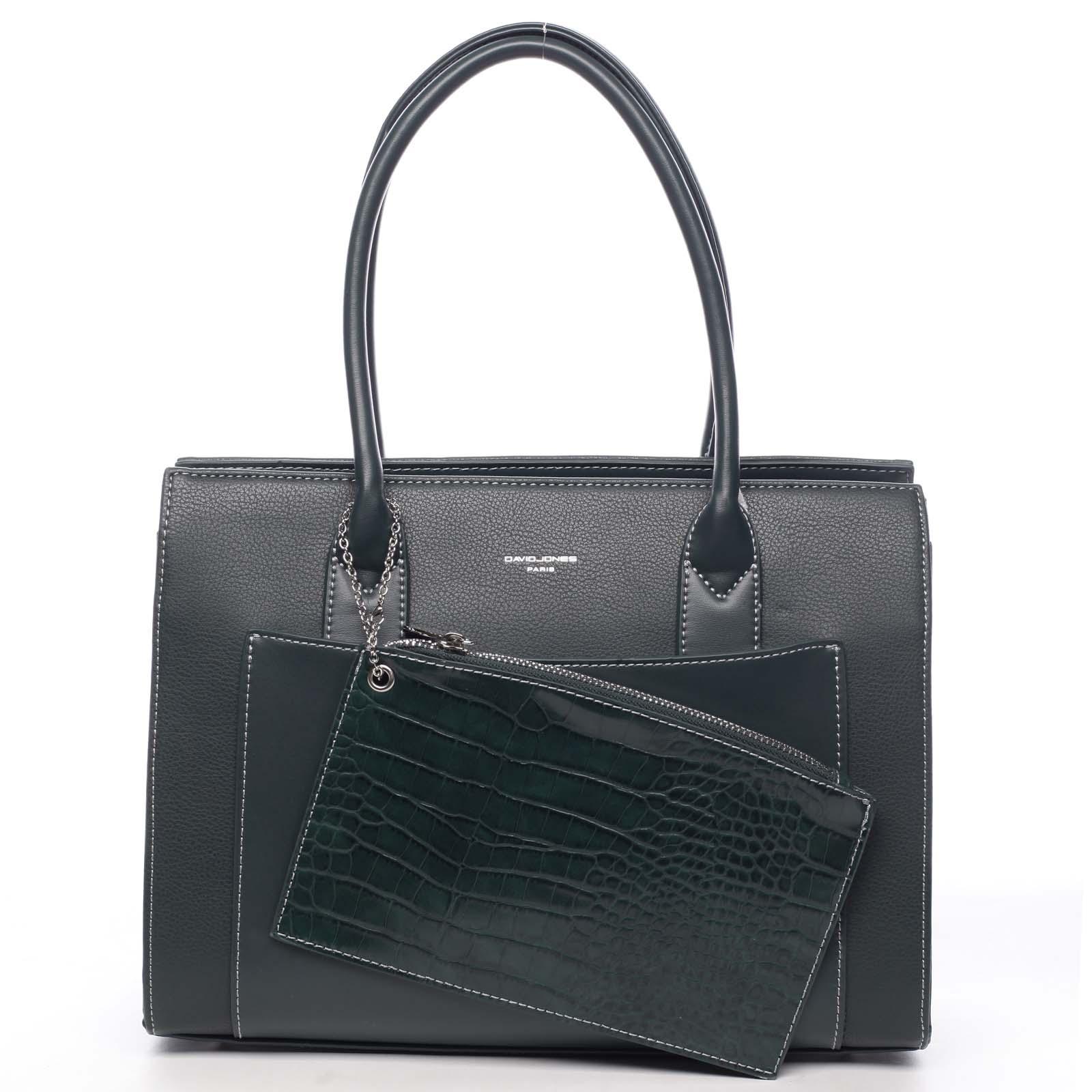 Dámská kabelka přes rameno tmavě zelená - David Jones Gilsia