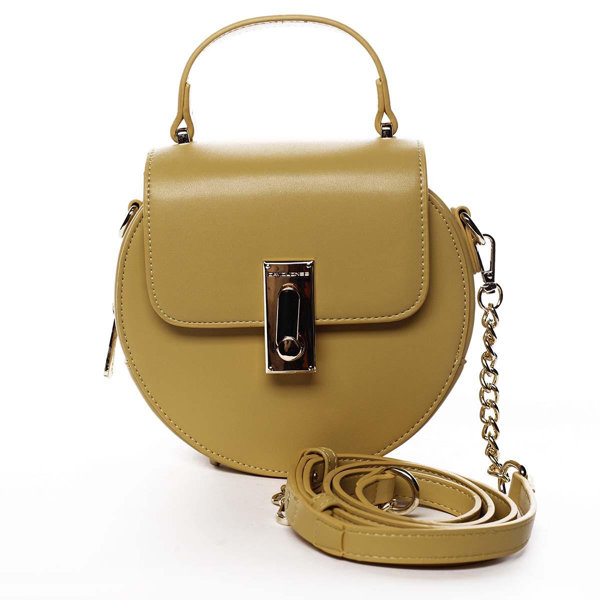 Luxusní dámská kabelka žlutá - David Jones Magnify
