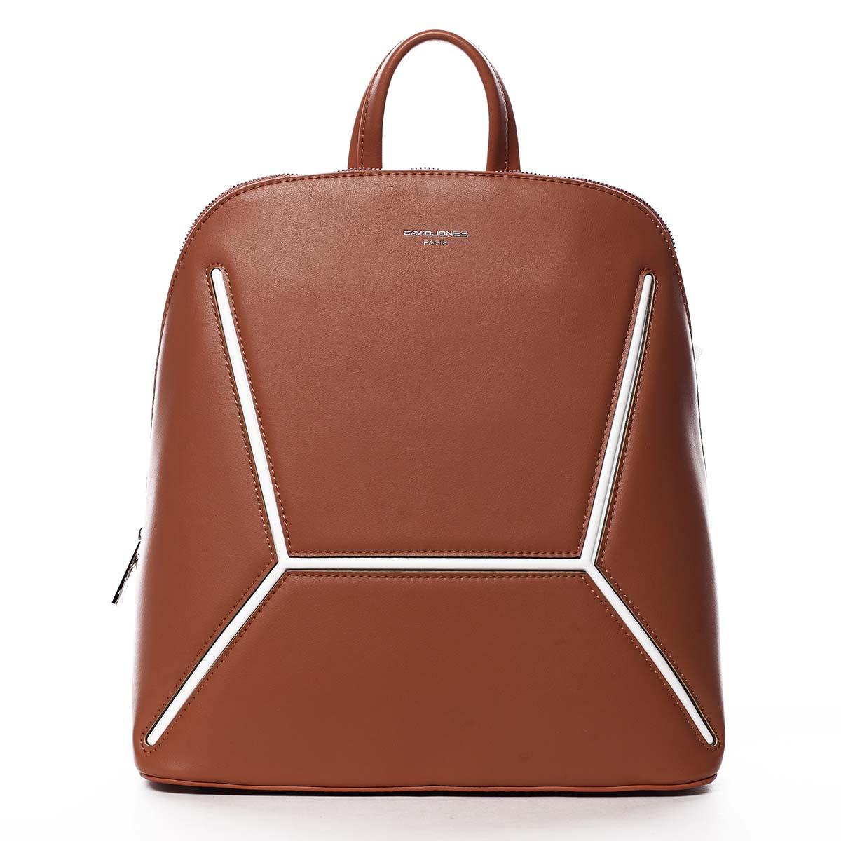 Dámský módní batoh oranžový - David Jones Haptun
