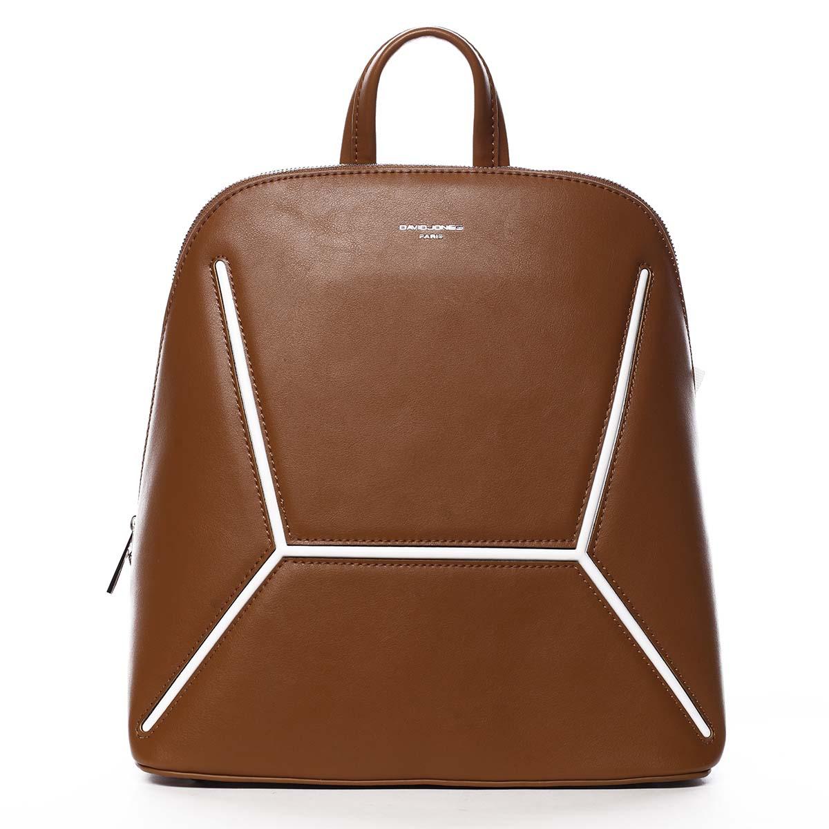 Dámský módní batoh světle hnědý - David Jones Haptun