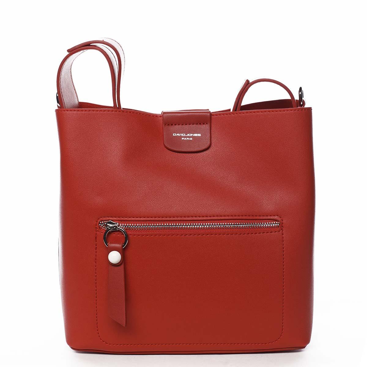 Dámská kabelka přes rameno červená - David Jones Salma