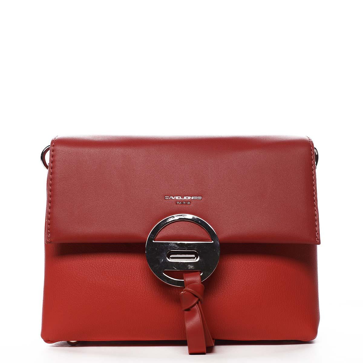 Dámská crossbody kabelka červená - David Jones Afiinisha