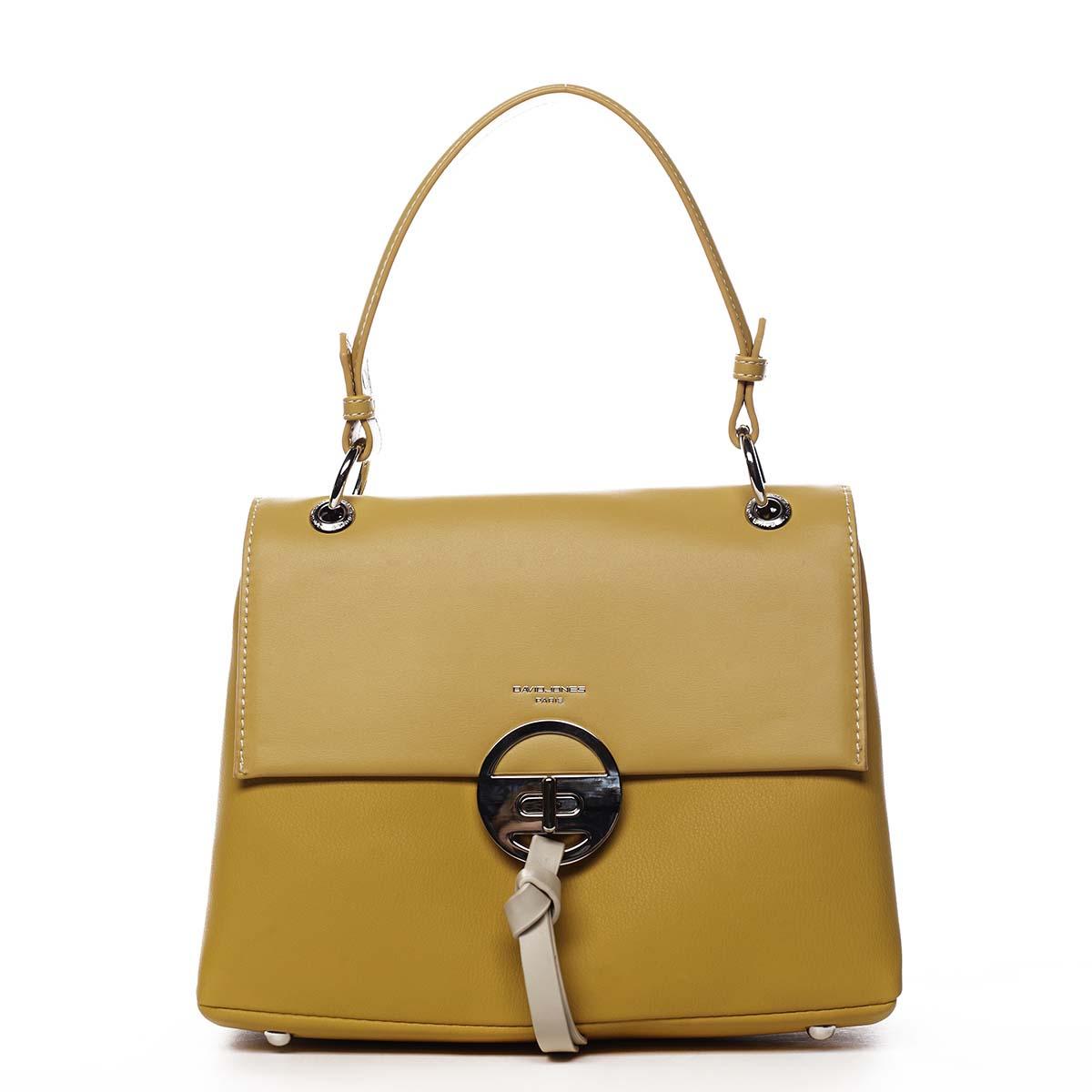 Dámská kabelka žlutá - David Jones Aminisha