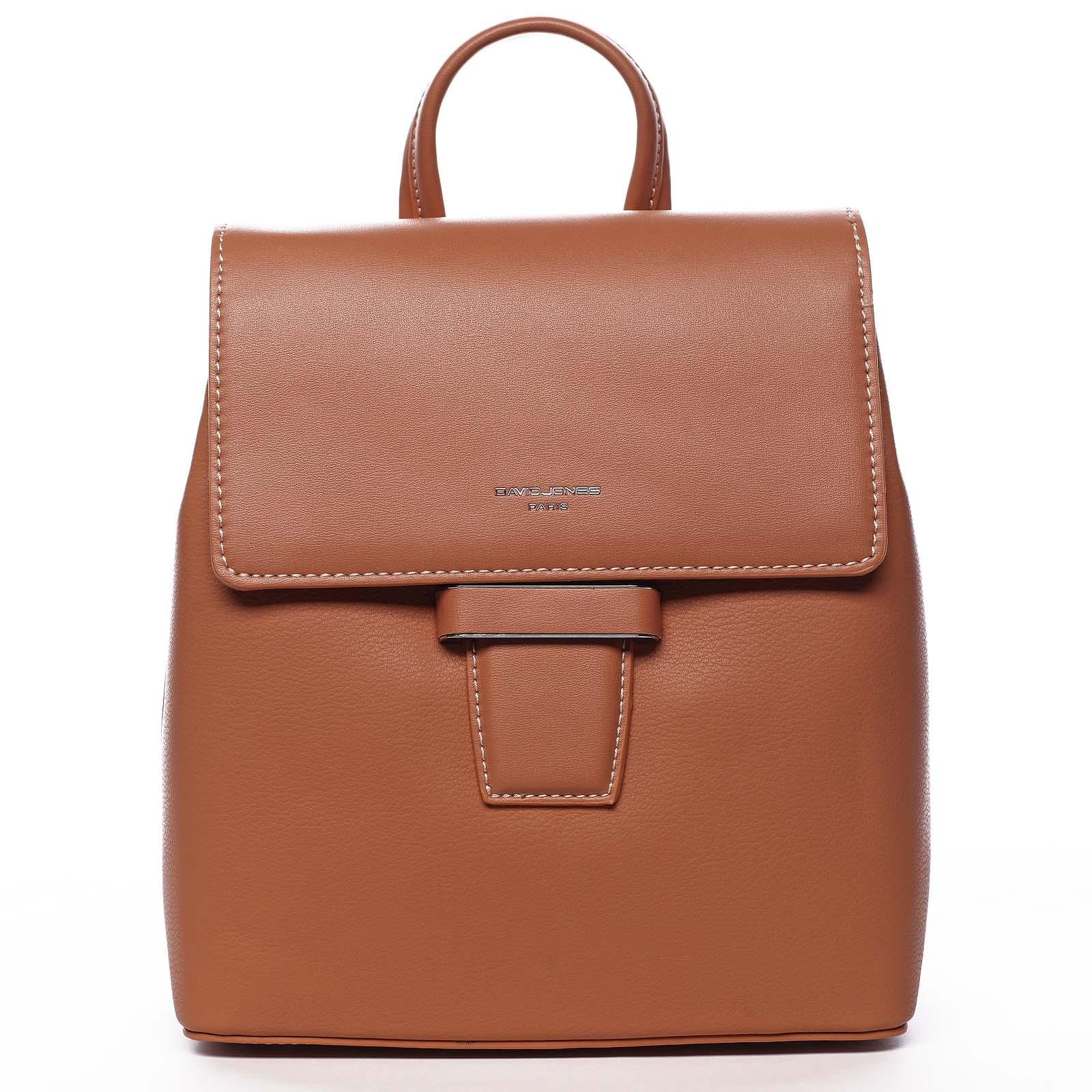 Dámský městský batůžek kabelka oranžový - David Jones Kancy