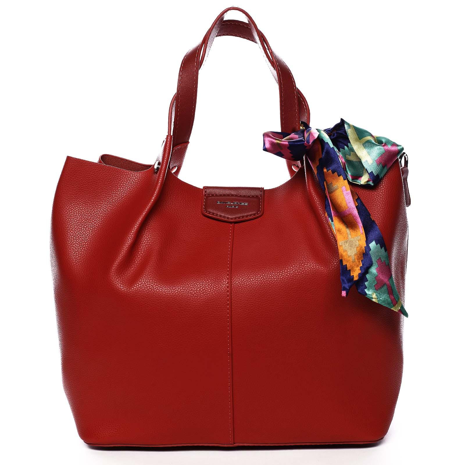 Dámská kabelka červená - David Jones MyWay