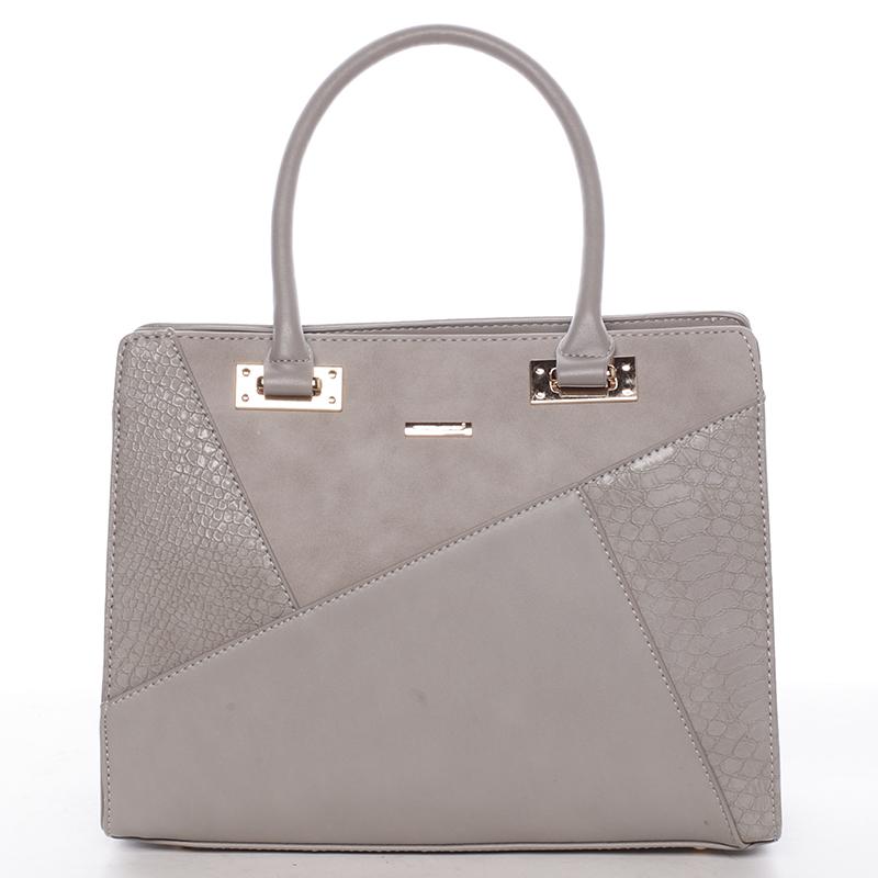 Módní dámská kabelka do ruky šedá - David Jones Fealty