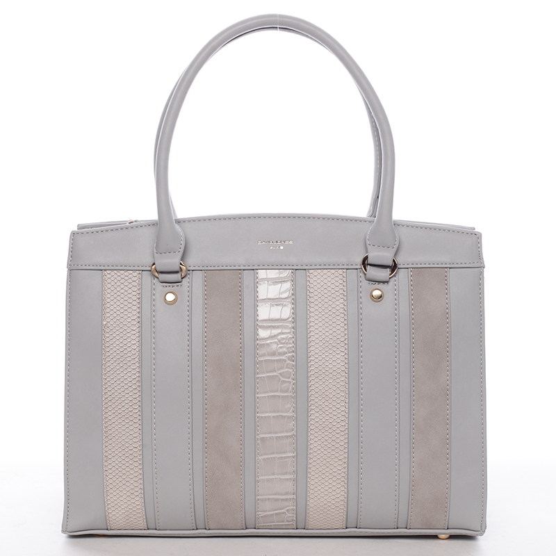 Exkluzivní dámská kabelka do ruky šedá - David Jones Josobelle