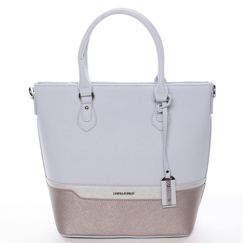 Trendy dámská kabelka do ruky světle modrá - David Jones Filicia