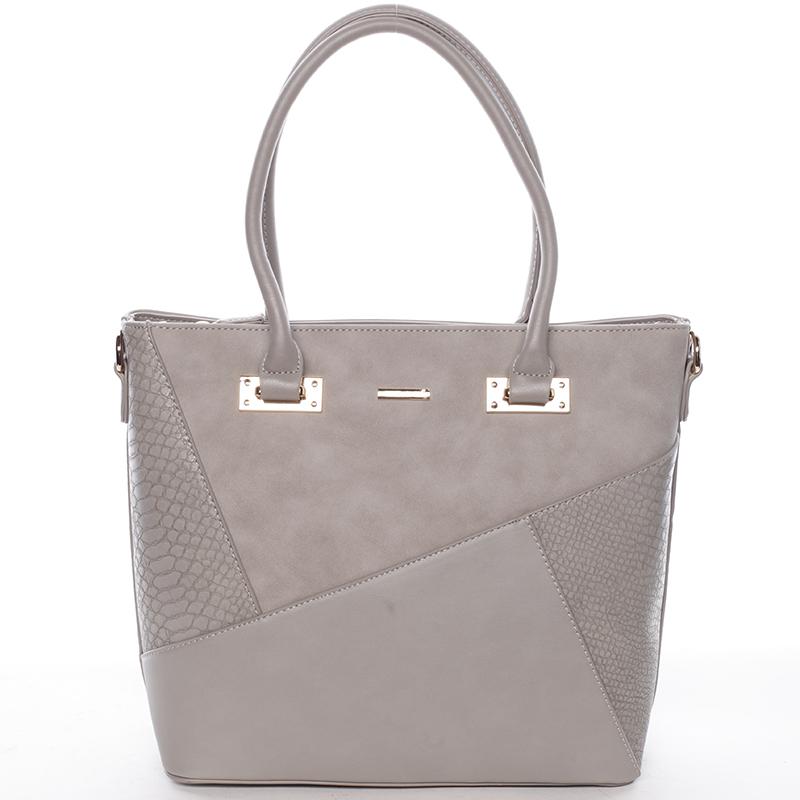 Elegantní dámská kabelka do ruky šedá - David Jones Corbyn
