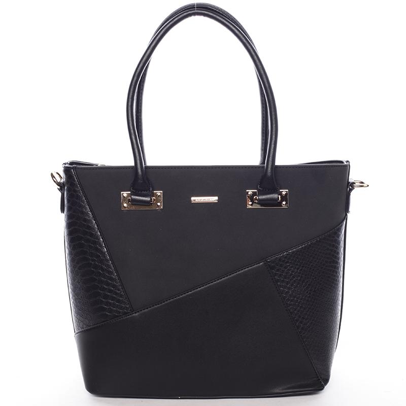 Elegantní dámská kabelka do ruky černá - David Jones Corbyn