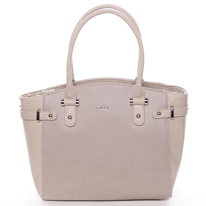 Elegantní dámská kabelka do ruky taupe - David Jones Eulalie