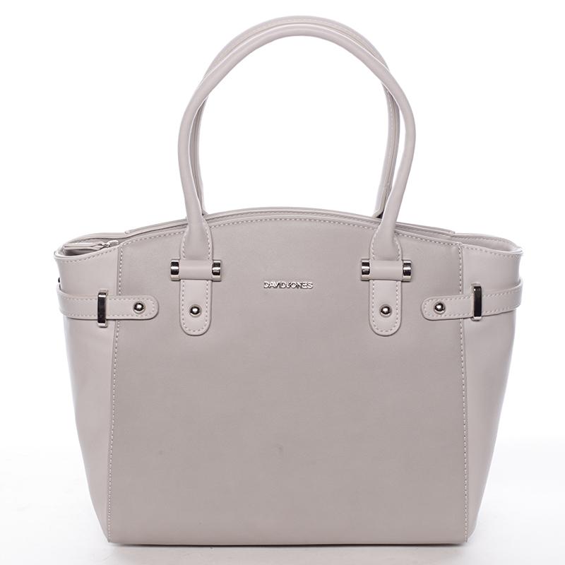 Elegantní dámská kabelka do ruky šedá - David Jones Eulalie
