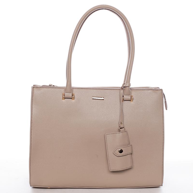Módní dámská kabelka do ruky camel - David Jones Aiglentina