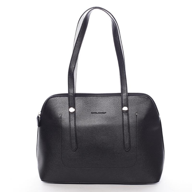 Elegantní dámská kabelka přes rameno černá - David Jones Robinetta