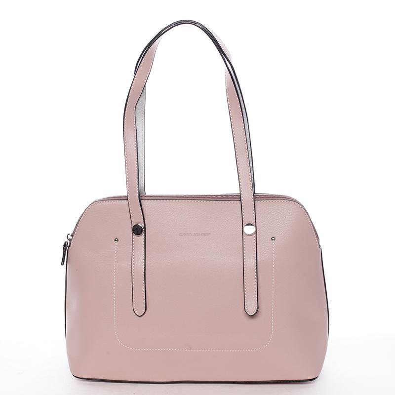 Elegantní dámská kabelka přes rameno růžová - David Jones Robinetta