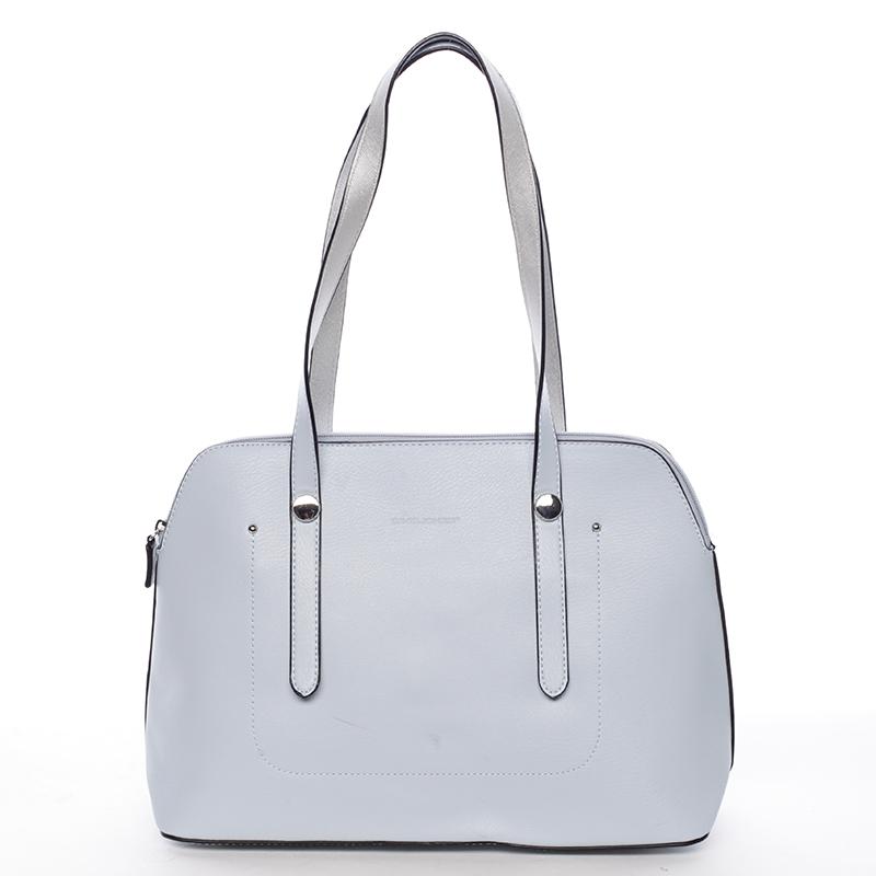 Elegantní dámská kabelka přes rameno světle modrá - David Jones Robinetta