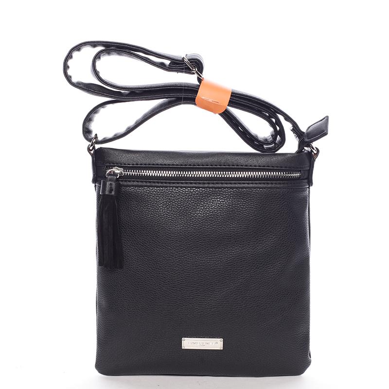 Moderní dámská crossbody kabelka černá - David Jones Azurine