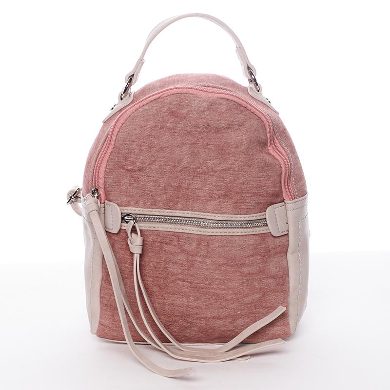 Originální dámský městský batůžek růžový - David Jones Roial