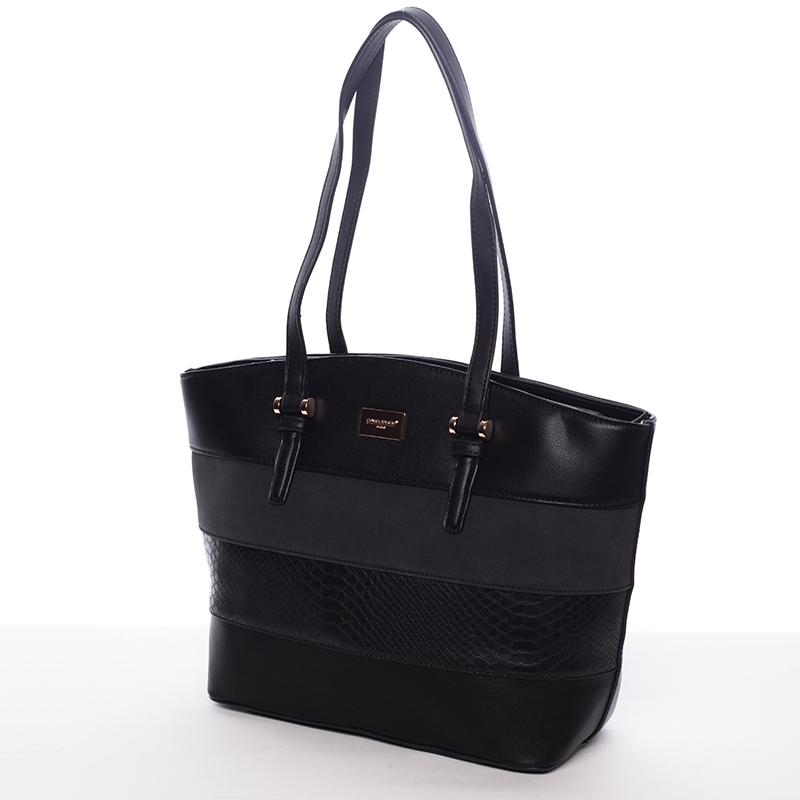 Elegantní dámská kabelka přes rameno černá - David Jones Maree