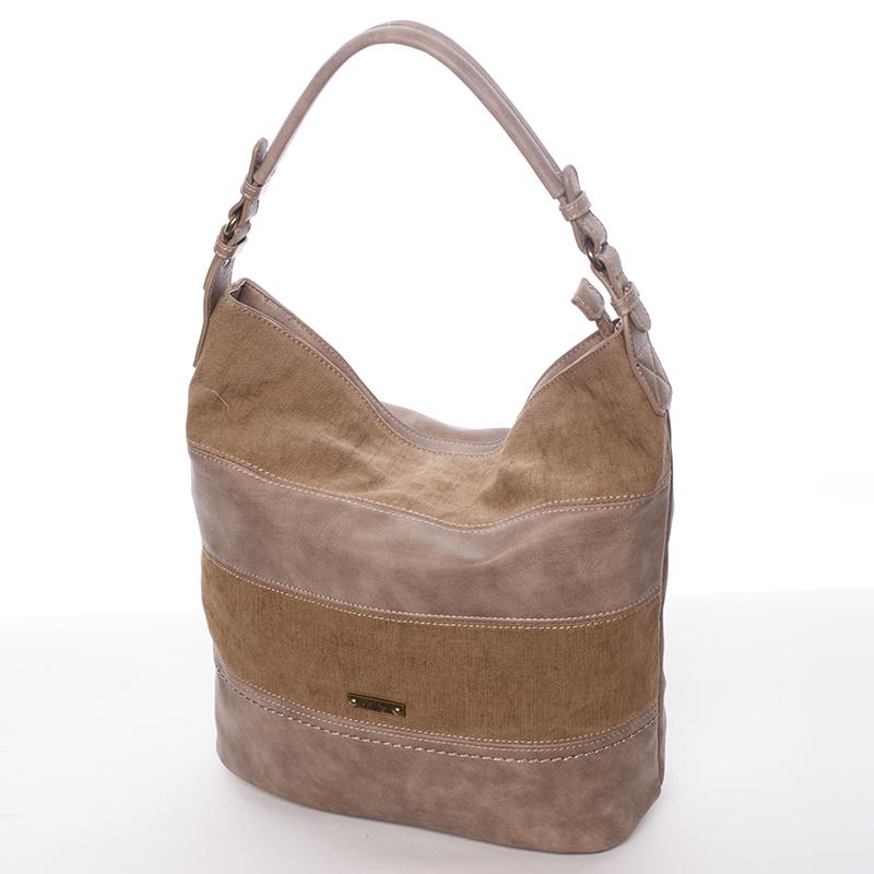 Módní dámská kabelka přes rameno hnědá - David Jones Lotye