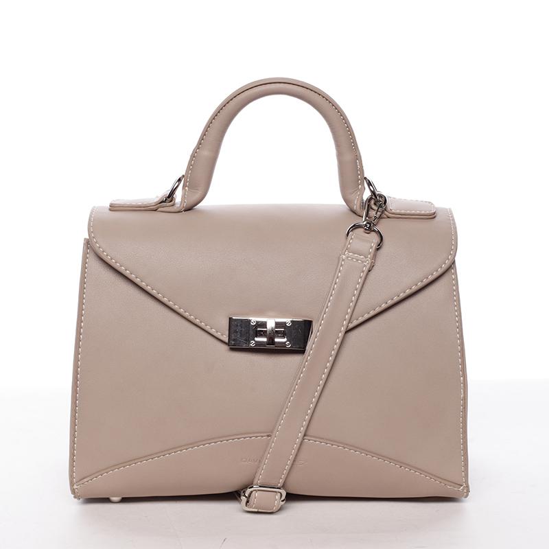 Luxusní dámská kabelka do ruky camel - David Jones Wakus