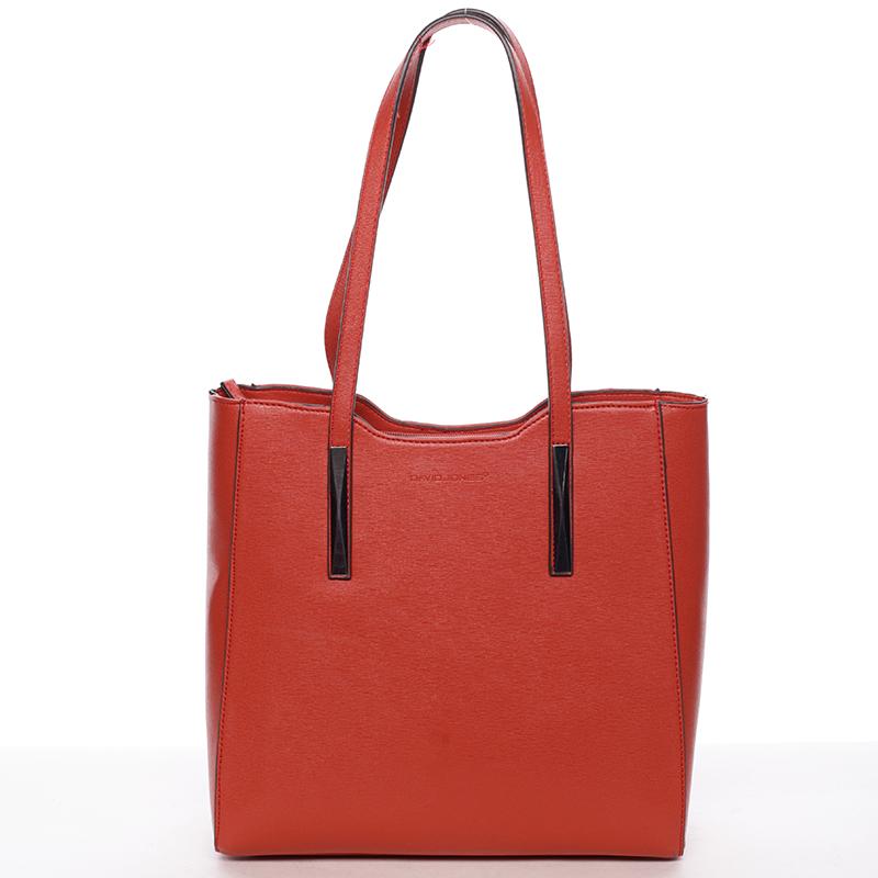 Dámská červená kabelka přes rameno - David Jones Wiktoria