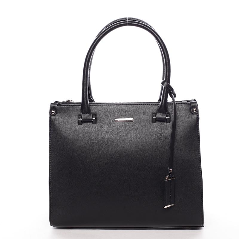 Luxusní dámská kabelka do ruky černá - David Jones Plum