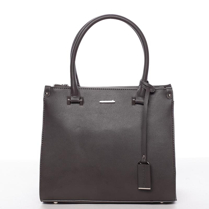 Luxusní dámská kabelka do ruky tmavě šedá - David Jones Plum