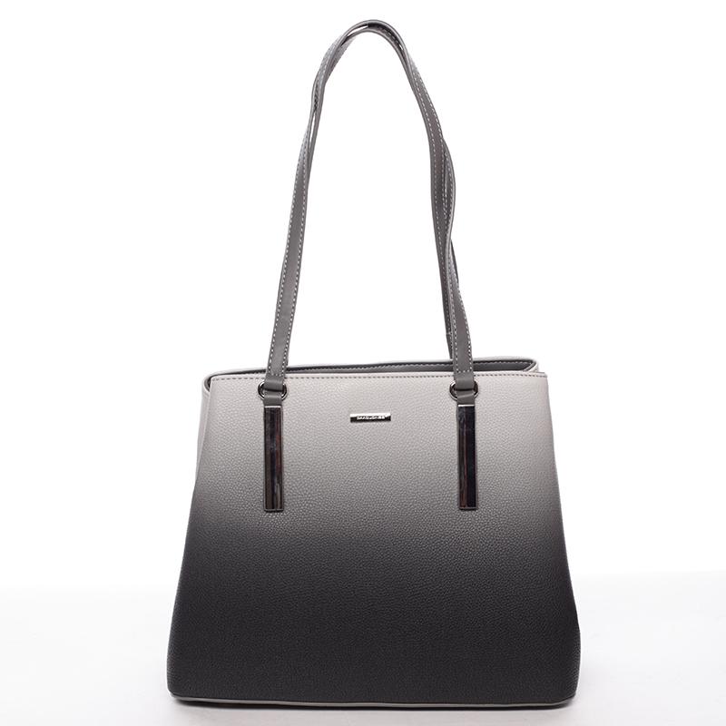 Elegantní dámská kabelka přes rameno černo šedá - David Jones Ciénes