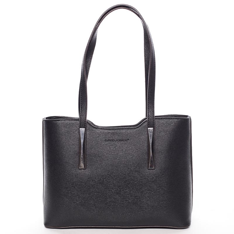 Dámská kabelka přes rameno černá saffiano - David Jones Yetta