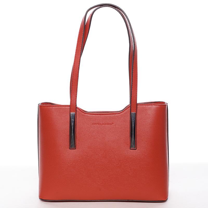 Dámská kabelka přes rameno červená saffiano - David Jones Yetta