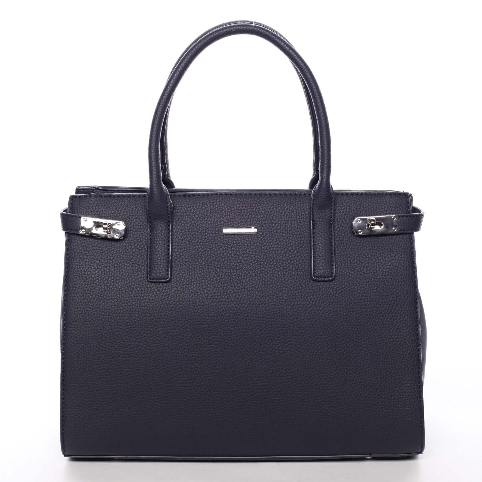 Atraktivní dámská kabelka do ruky tmavě modrá - David Jones Eugenie