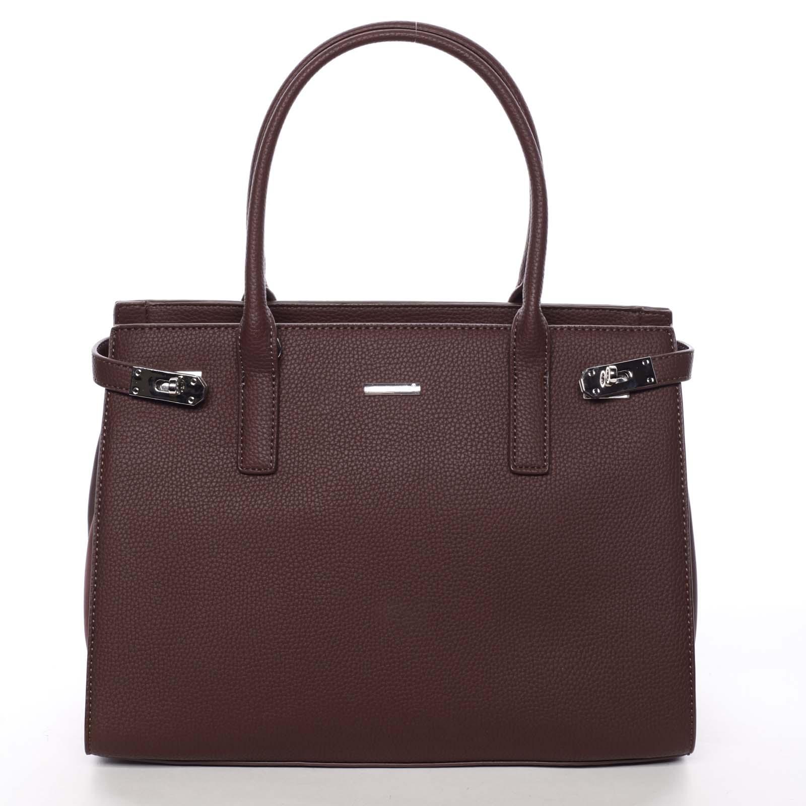 Atraktivní dámská kabelka do ruky vínová - David Jones Eugenie