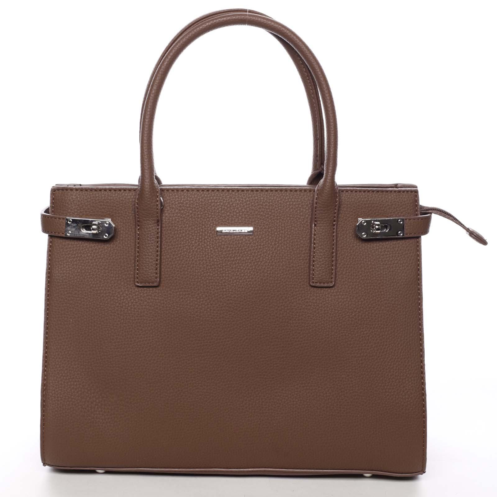 Atraktivní dámská kabelka do ruky hnědá - David Jones Eugenie